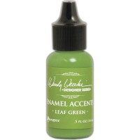 Enamel Accents - Leaf Green