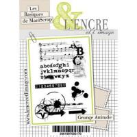 Grunge Attitude clear stamps by L'Encre et L'Image