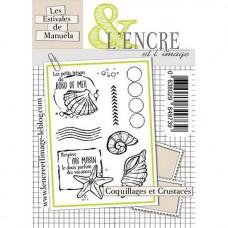 Coquillages et Crustacés tampons transparents - L'Encre et L'Image