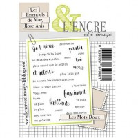 Les mots doux clear stamps by L'Encre et L'Image