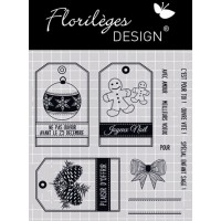 Etiquettes de Noël - Clear stamps by Florilège