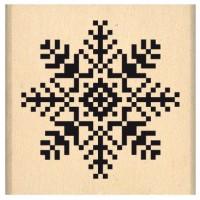 Flocon Brodé - Florilèges Design Tampon monté sur bois