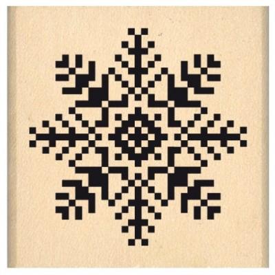 Flocon Brodé - Wood Mounted Florilèges Design Stamp