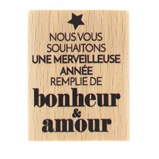 Merveilleuse Année - Wood Mounted Florilèges Design Stamp