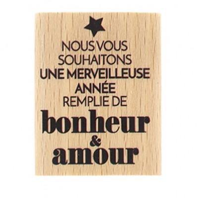 Merveilleuse Année - Tampon bois Florilèges Design