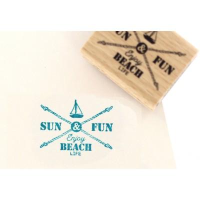 Enjoy Beach Life -  Wood Mounted Florilèges Design Stamp