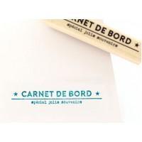 Carnet de souvenirs - Tampon bois Florilèges Design