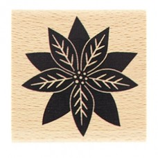 Poinsettia - Wood Mounted Florilèges Design Stamp