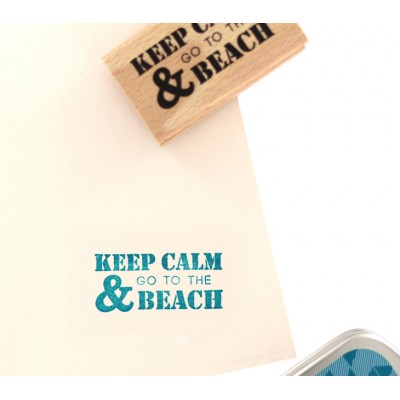 Go to the Beach -  Wood Mounted Florilèges Design Stamp