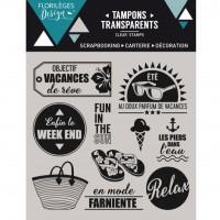 Objectif Vacances  - Tampons transparents par Floriliege