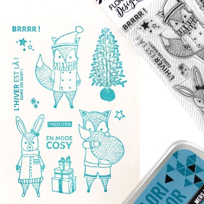 Come on Baby - Tampon transparents Florilèges Design.