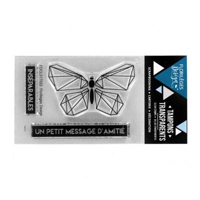 Message d'amitié 2 - Clear stamps by Florilèges Design