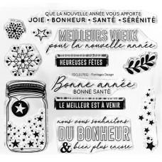Vœux étoilés - tampons transparents Florilèges Design