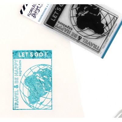Travel and be happy - Clear stamps by Florilèges Design.