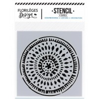 Ethnic Circle - Stencil 12 x 12cm by Florilèges Design