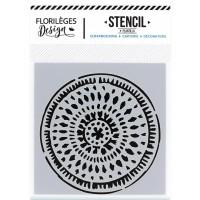 Cercle ethnique - Pochoir par Florilèges Design 12x12cm