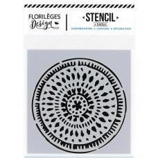 Ethnic Circle - Stencil 12 x 12cm by Florilèges Design