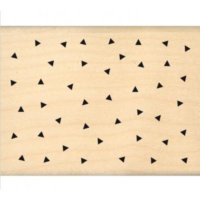 TRIANGLES EN FOLIE -  Wood Mounted Florilèges Design Stamp
