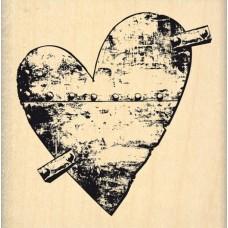 Coeur de Métal - Florilèges Design Tampon monté sur bois