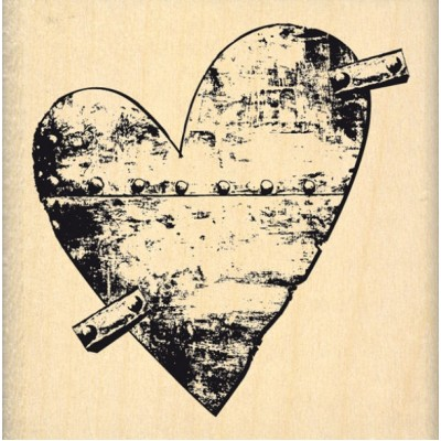 Coeur de Métal -  Wood Mounted Florilèges Design Stamp