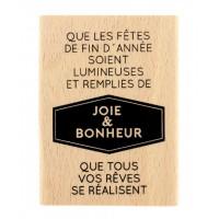 Année lumineuse - Tampon bois de Florilèges Design