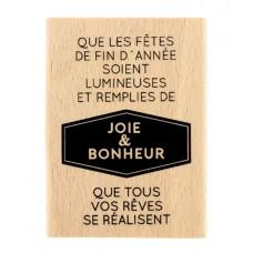 Année lumineuse -  Wood Mounted Florilèges Design Stamp