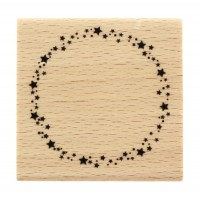 Ronde étoilée - Starry circle -  Wood Mounted Florilèges Design Stamp