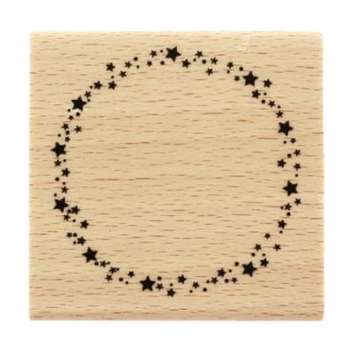 Ronde étoilée - Starry circle -  Wood Mounted Florilèges Design Stamp