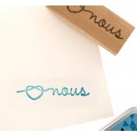 Coeur marin -  Wood Mounted Florilèges Design Stamp