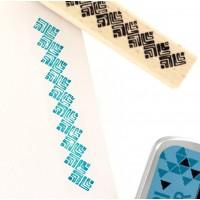 Bordure Batik  - Tampon bois Florilèges Design
