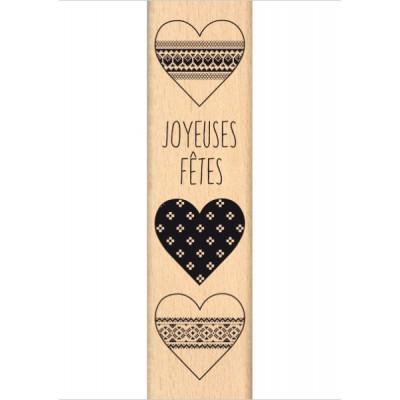 Coeurs en Fête - Wood Mounted Florilèges Design Stamp