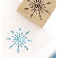 Un beau flocon (beautiful snowflake) - Wood Mounted Florilèges Design Stamp