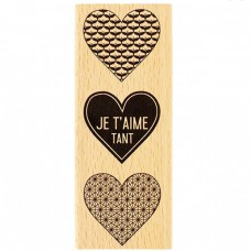 Je t'aime tant -  Wood Mounted Florilège Stamp