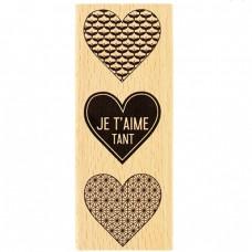 Je t'aime tant - Tampon bois Florilèges Design