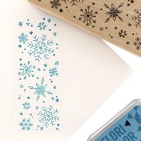 A gros flocons (big snowflakes) - Wood Mounted Florilèges Design Stamp