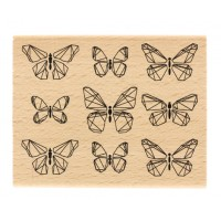 Papillons graphiques -  Wood Mounted Florilège Design Stamp