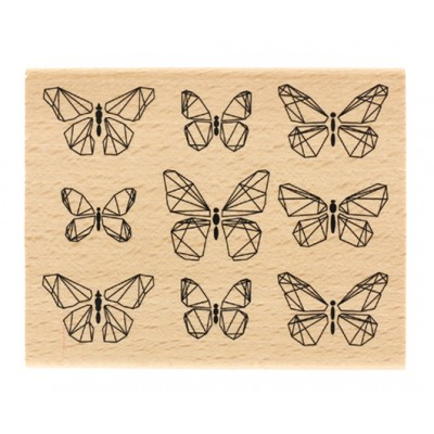 Papillons graphiques -  Wood Mounted Florilège Stamp