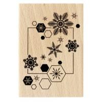 Envol de flocons - Tampon bois de Florilèges Design