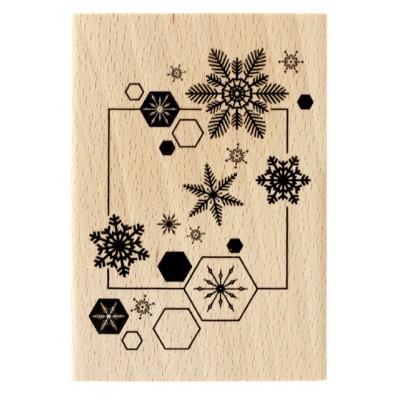 Envol de flocons -  Wood Mounted Florilèges Design Stamp