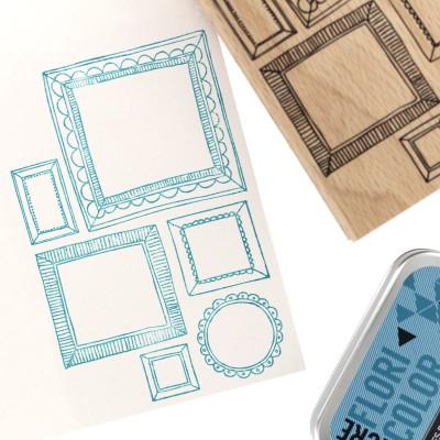 Six Cadres (six frames) - Wood Mounted Florilège Stamp