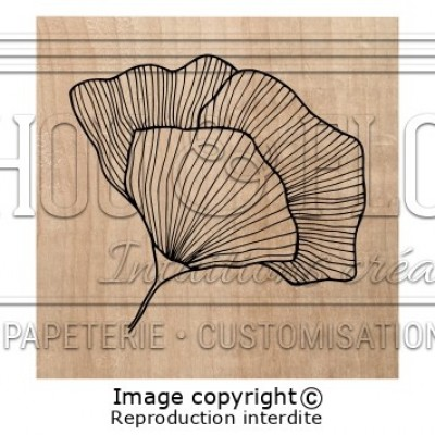 Chou & Flowers Wood Mounted Stamp - Fleur brocante