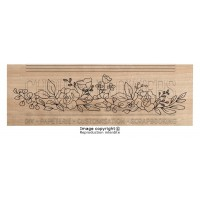 Chou & Flowers Wood Mounted Stamp - Fleurs vintage