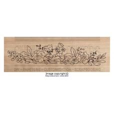 Chou & Flowers Wood Mounted Stamp - Fleurs vintage