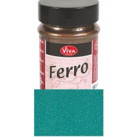 FERRO metal effect textured paint - Turquoise