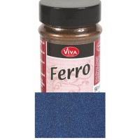 FERRO metal effect textured paint 90 ml Steel Blue