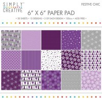 Simply Creative Paper Pad 6x6 - Festive Chic
