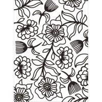 Floral Whimsy Darice Embossing folder