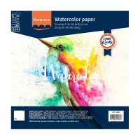 Florence Watercolor paper - 5 sheets 12x12, smooth, white, 300g