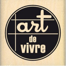 ART DE VIVRE - Wood Mounted Stamp by Florilèges Design