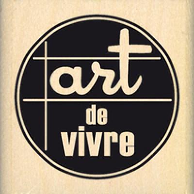 ART DE VIVRE - Wood Mounted Stamp by Florilèges Design